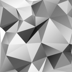 Vector monochrome background of triangles in different shades of