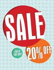 Sale sign - 20% off