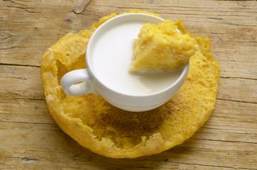 Milk y polenta 牛奶和玉米粥 молоко и полента Expo Milano