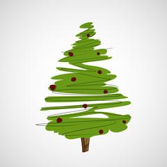 Beautiful Christmas tree on a light background