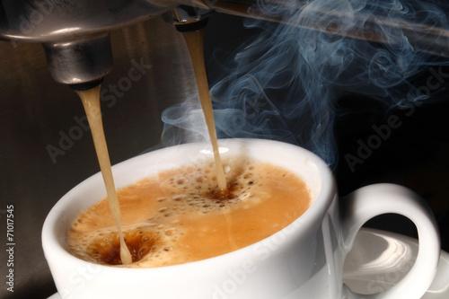 Leinwandbild Motiv frischer Kaffee