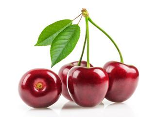 cherries isolated