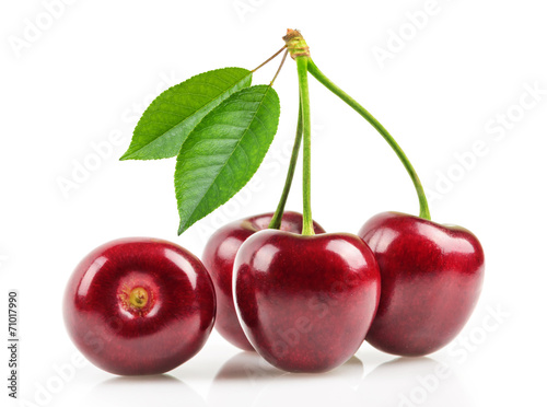 Fotobehang Vruchten cherries isolated