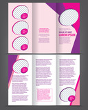 Vector empty trifold brochure design print template poster