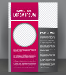 Magazine, flyer, brochure and cover layout design template