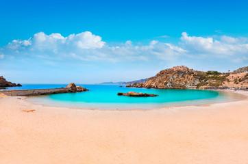 Cartagena Cala Cortina beach in Murcia Spain