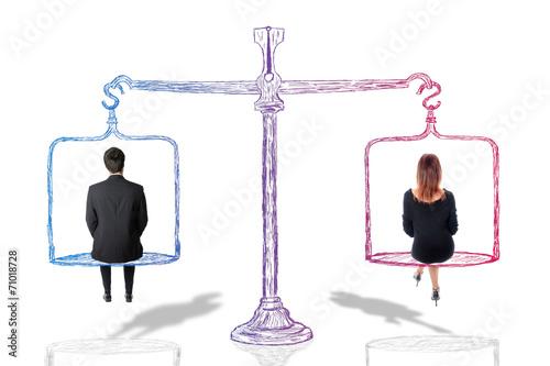 Leinwanddruck Bild Equality concept