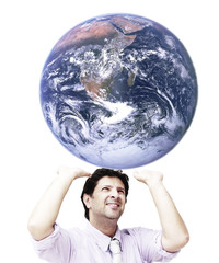 Man in effort to sustain the world
