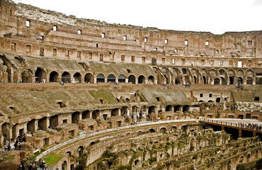 The ruines of the Roman Coliseum.