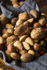 Assortment of Whole Raw Mixed Nuts