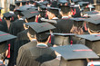 back of graduates during commencement. - 71019515