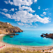 Cartagena Cala Cortina beach in Murcia Spain