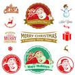 Santa Cartoon Label