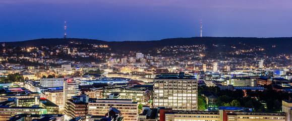 Stuttgart blaue Stunde mit Fernsehturm