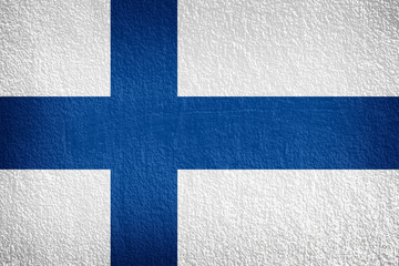 Finland flag on texture wall