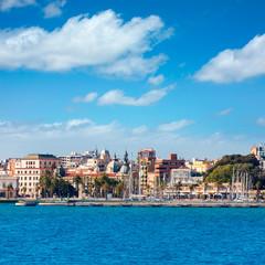 Cartagena skyline Murcia at Mediterranean Spain