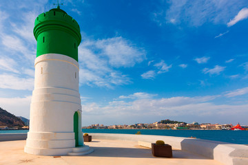 Beacon Cartagena lighthouse in Murcia Spain