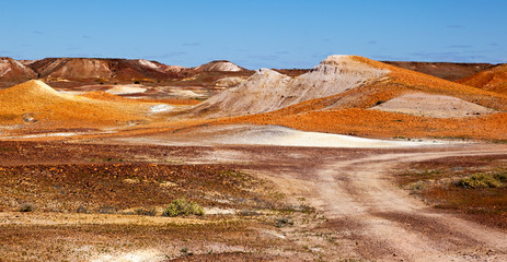 alien landscape The Breakaways Coober Pedy Australia
