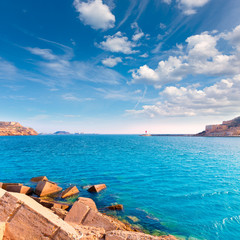 Cartagena port in Murcia at Mediterranean Spain