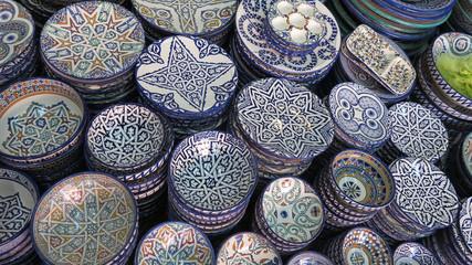 Decorated plates medina souk
