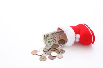 サンタブーツと小銭