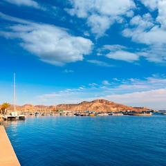 Cartagena port in Murcia at Spain Mediterranean