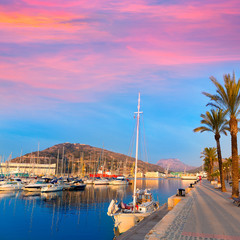 Cartagena Murcia port marina sunrise in Spain