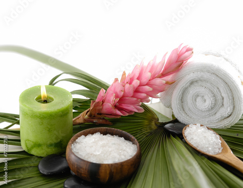 Poster Spa Tropical spa setting