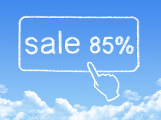 sale 85% message cloud shape
