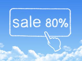 sale 80% message cloud shape