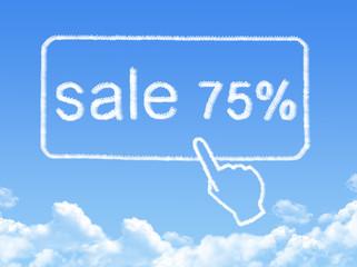 sale 75% message cloud shape