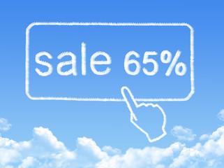 sale 65% message cloud shape