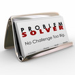 canvas print picture - Problem Solver Business Card Holder Consultant Job Career