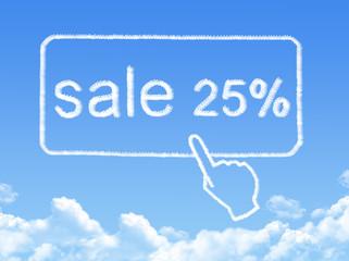 sale 25% message cloud shape