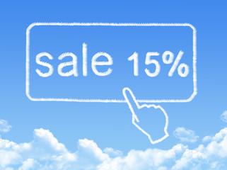 sale 15% message cloud shape