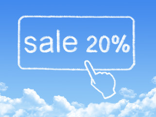 sale 20% message cloud shape