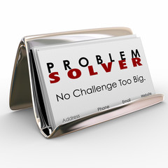 Problem Solver Business Card Holder Consultant Job Career