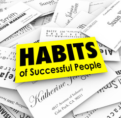 Habits of Successful People Business Cards