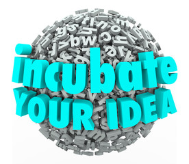 Incubate Your Idea 3d Words Letter Sphere Business Model Brainst