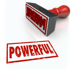 Powerful Stamp Word Strong Intese Forceful Quality