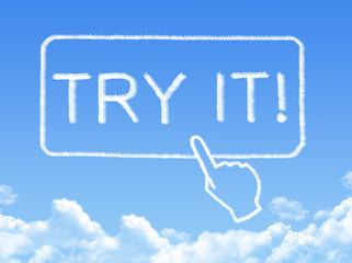 Try it message cloud shape