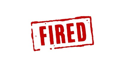 Fired From Job Red Stamp Transition