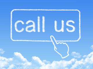 call us message cloud shape