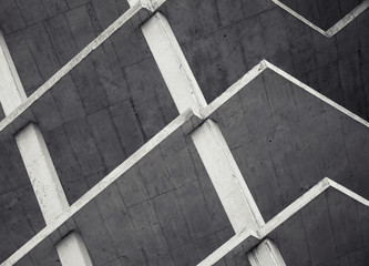Abstract modern architecture background, concrete floors under c