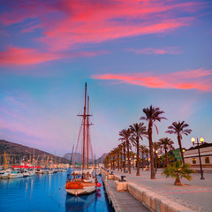 Cartagena Murcia port marina sunrise in Spain