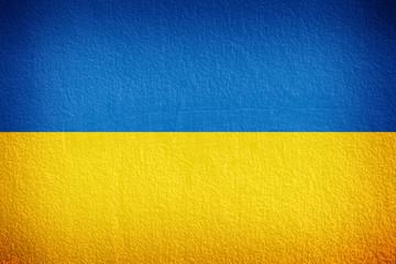 Ukraine Flag on the wall texture