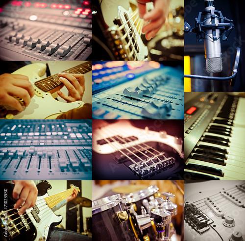 Staande foto Muziekwinkel music concept
