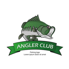 angler logo, fishing logotype