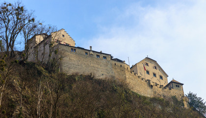 Wall of castle Prince of Liechtenstein in Vaduz