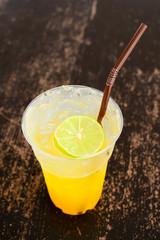 Orange juice with no background